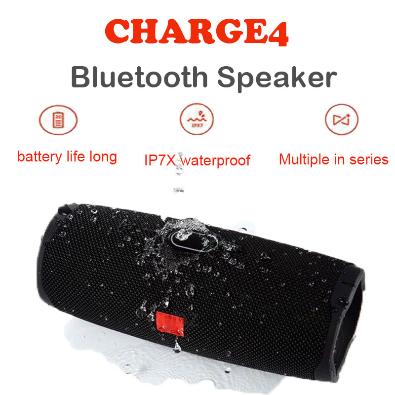 20W Bass Stereo Sound Bluetooth Speaker Portable Wireless Charge4 Outdoor Column Sound Bar Subwoofer With USB TF Card FM Radio