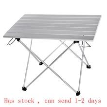 Портативный складной стол для кемпинга, пешего туризма, путешествий, пикника, новый ультра светильник из сплава синего, серого, розового, черного цвета S L