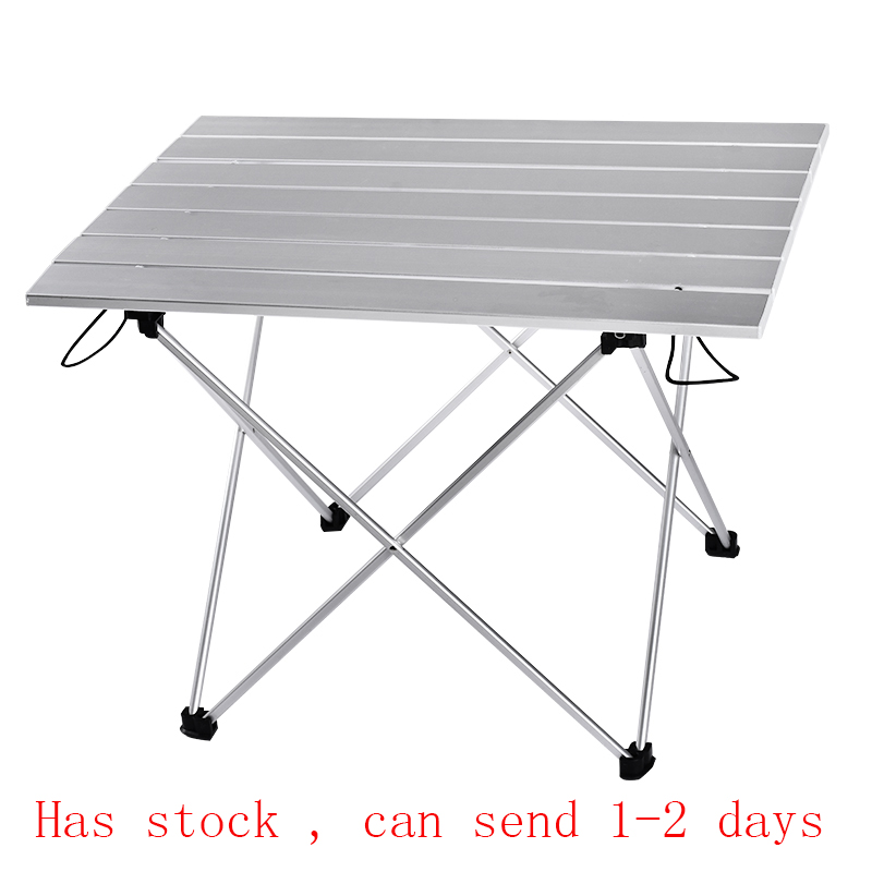 Portable Table Foldable Folding Camping Hiking Desk Traveling Outdoor Picnic New Blue Gray Pink Black Al Alloy Ultra-light S L