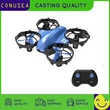 Mini rc zangão helicóptero ufo brinquedo para crianças gesto fixo altura 360 ° rolamento quadrocopter dron um terra chave auto pairando drones