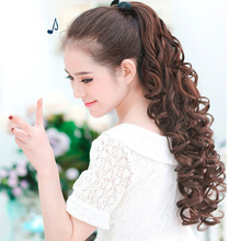 Synthetic band ponytail extension clip wig