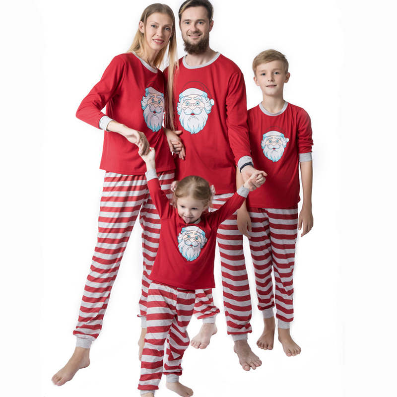 SAILEROAD Family Matching Christmas Pajamas Sets For Children Women Man Baby Kids Home Wear New Year's Parent-child Suit PJS Set