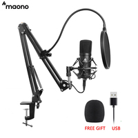MAONO AU A04 USB Microphone Kit Professional Podcast Condenser Mic With Hat For PC Karaoke Youtube Studio Recording Mikrofon
