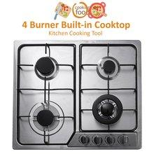 4 горелка встроенная варочная панель газовые плиты из нержавеющей стали газовая плита кухонная плита кухонный прибор кухонная посуда газовая плита 58x50 см