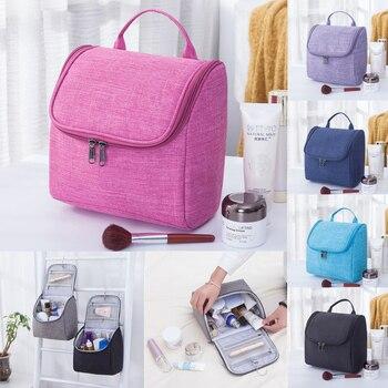 Organizador de Maquillaje de gran capacidad, bolsa de lavado de tela Oxford, bolsa de almacenamiento de cosméticos colgante, bolsa de viaje impermeable, Organizador de Maquillaje