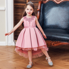 Vgiee Kids Dresses for Girls Cotton Knee-Length Fall Winter Style Solid Princess Dress for Baby Girl Toddler Girl Clothes CC630A