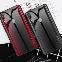 Funda de teléfono para ASUS Zenfone Max Pro, M1, M2, ZB601KL, ZB602KL, ZB631KL, ZB633KL, funda de vidrio templado gradiente, cubierta colorida