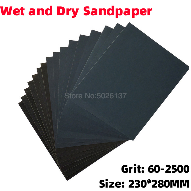 1x 60-2500 Grit Polishing Wet And Dry Sandpaper Sanding Paper Water Abrasive Sandpapers Waterproof Granularity Metal Wood Grind