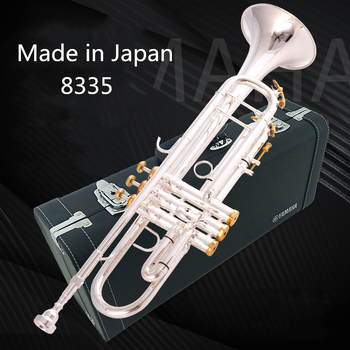 Made in Japan quality  8335 Bb Trumpet B Flat Brass Silver Plated Professional Trumpet Musical Instruments with Leather Case