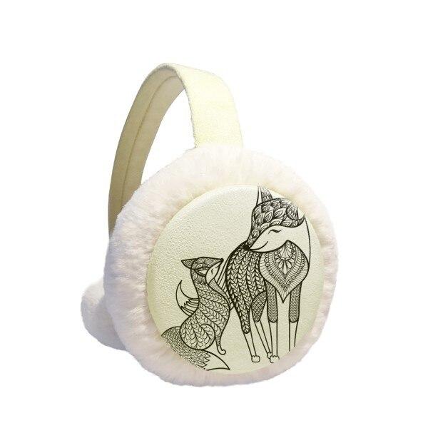 Paint Fox Friend Company Winter Earmuffs Ear Warmers Faux Fur Foldable Plush Outdoor Gift