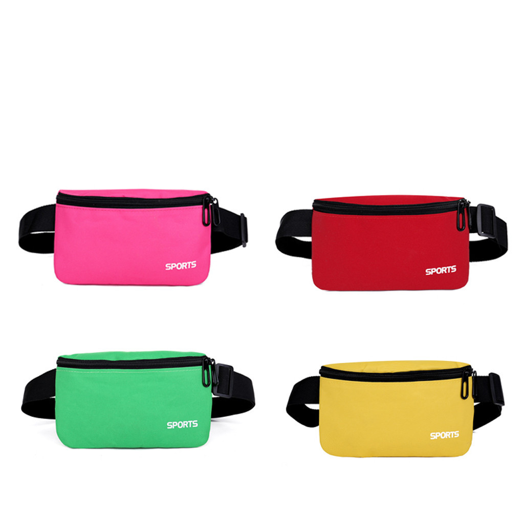 2019 Newest Hot Unisex Women Man Waist Belt Bag Simple Leisure Fashion Canvas Sport Fitness Solid Waist Packs поясная сумка