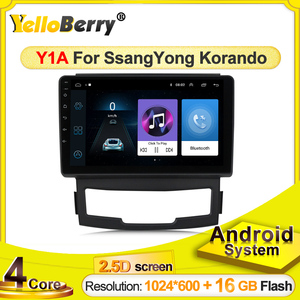 yellowBerry android systems Car Radio Multimedia Video Player Navigation GPS for SSANGYONG KORANDO 2011 2012 2013 no DVD stereo
