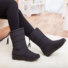 Waterproof Snow Boots Women Boots Winter Shoes Women Ankle Boots Warm Fur Booties Women Shoes Female Winter Boots Botas Mujer цены онлайн