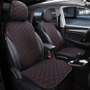 Image 1 - Front Car Seat Cover With Backrest Universal Breathable Linen Seat Cushion Protection Mat Pad Auto Seat Fit Interior Accessories