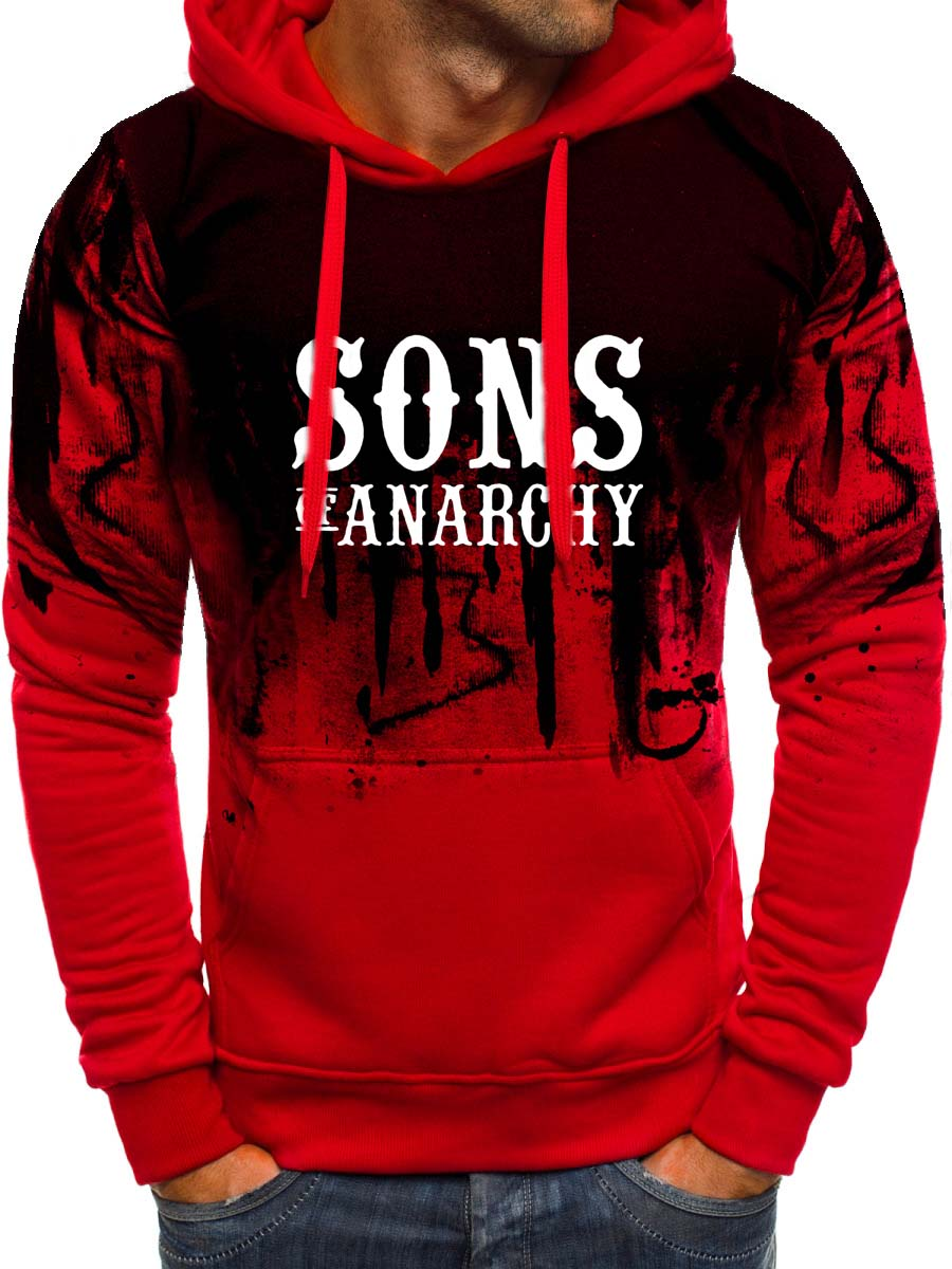 SOA Sons Of Anarchy The Child New Fashion SAMCRO Men Gradient Hoodies Male Casual Sweatshirt Winter Fleece Hip Hop Warm