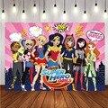 С изображением супергероя для девочек фон городской здания детских празднований дня рождения вечерние Фотофон по индивидуальному дизайну,...