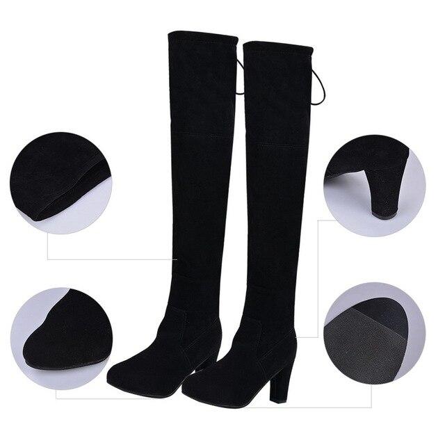 Over The Knee Ladies Boots Uncategorised Footwear Women color: Black Gray