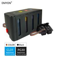 DMYON PG30 CL31 XL CISS Bulk Ink Compatible for Canon PG30 CL31 for PIXMA IP1800 IP2600 MP140 MP210 MP470 MX300 Printers
