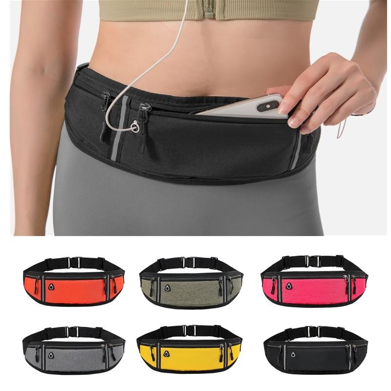 Pouch Waist-Bag Mobile-Phone-Case Sports-Belt Professional Hidden Running Women Gym