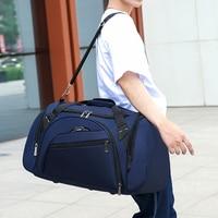 2021 neue Männer Reisetasche Große Kapazität Tragbare Handtasche Qualität Nylon Schulter Taschen Casual Seesack Solide Gepäck Taschen XA414F