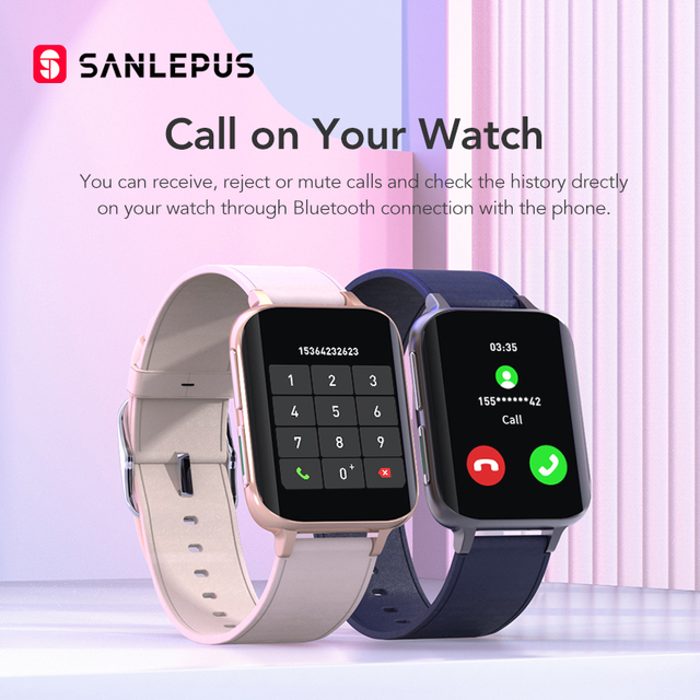 SANLEPUS 2021 Smart Watch Men Women Waterproof Watches Bluetooth Call Smartwatch MP3 Player For OPPO Android Apple Xiaomi Huawei 3