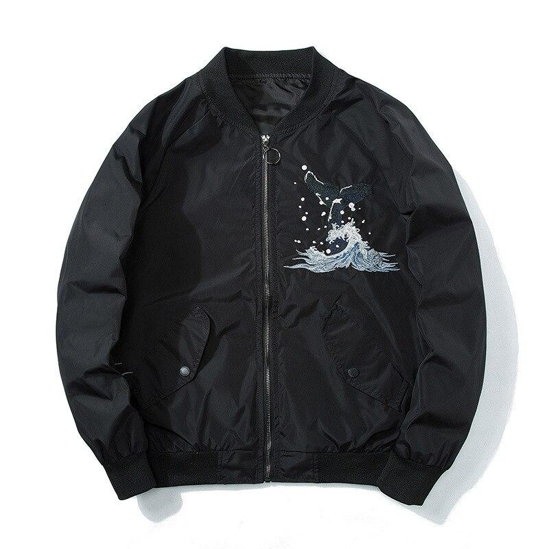 Spring New Style Yokosuka Embroidered MEN'S Coat Youth Thin Jacket Whale Japanese-style Retro Baseball Uniform