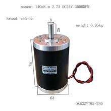 цена на 63 permanent magnet DC motor brush motor 3000RPM 24v 0.14 nM / high-speed motor / reversible / variable speed