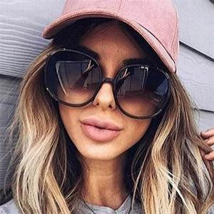Fashion Brand Designer Round Women Sunglasses Oversized Female Gradient Points Sun Glasses Big Oculos feminino de sol UV400