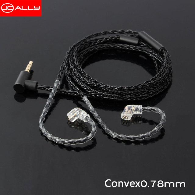 JCALLY 5N טהור כסף מצופה אוזניות שדרוג כבל עם מיקרופון 3.5mm MMCX/QDC/0.78/0.75mm 2Pin עבור KZ TFZ T2 CCA EDX AS16