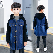 children boys Hoodie Sweatshirt Jeans Clothes For long jean Coat Jackets Outwear girls Boys for 6 8 10 12 15 years