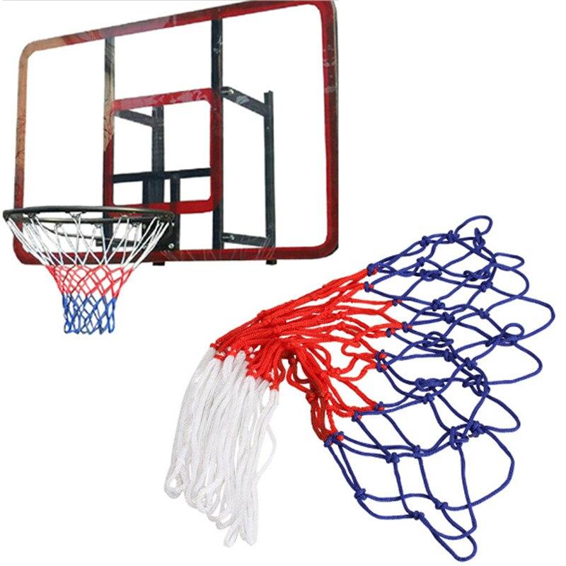 Баскетбольная сетка для занятий спортом на открытом воздухе, стандартная нейлоновая нить, баскетбольное кольцо, сетчатая баскетбольная се...