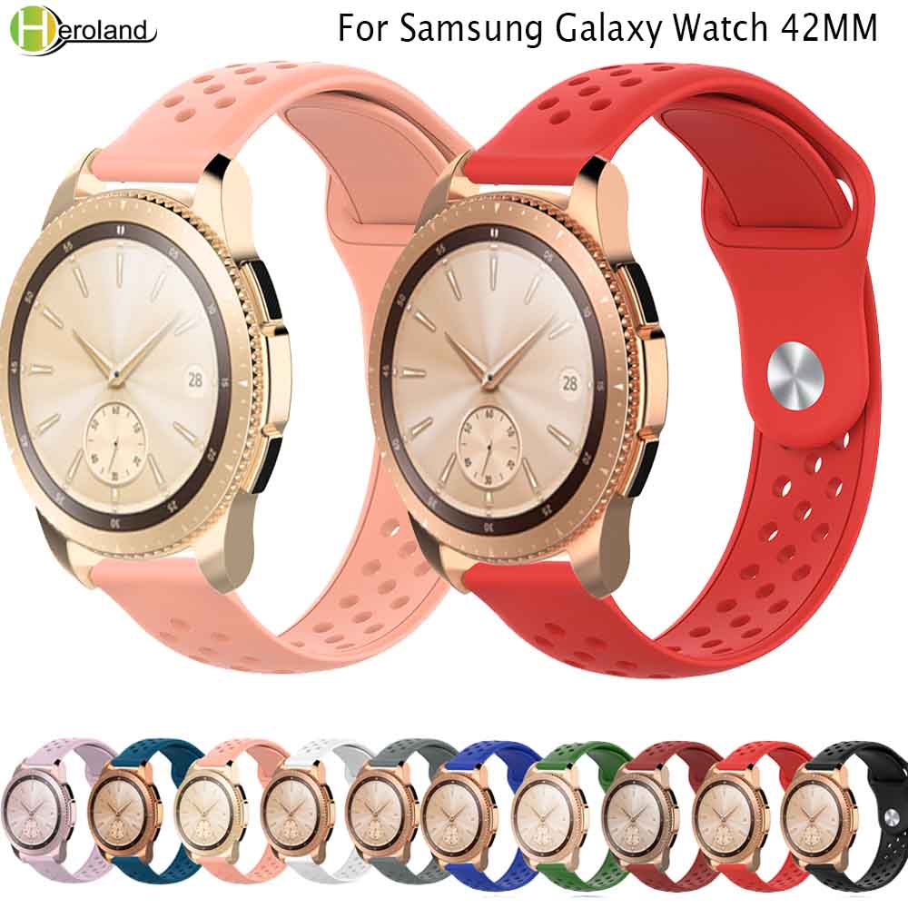 Silicone For Samsung Galaxy Watch 42mm/gear S2 Band Strap For Huami Amazfit GTR 42mm /GTS Sport 20mm Smart Bracelet Watchstrap