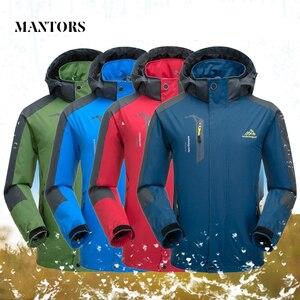 Image 2 - Jaqueta masculina à prova dágua com capuz, casaco esportivo quente e macio com capuz, para outono e inverno, blusão casual para homens, com zíper