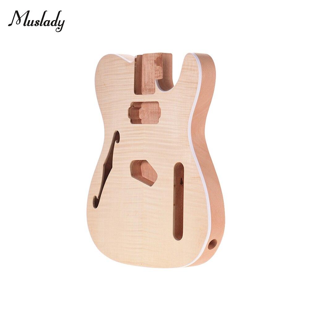 Muslady TL-FT03 non fini guitare corps acajou bois blanc guitare baril pour télé Style guitares électriques bricolage pièces