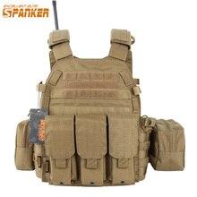 優れたエリートspanker屋外狩猟6094ベスト戦術的なベストスーツ軍人服軍のcs機器の付属品
