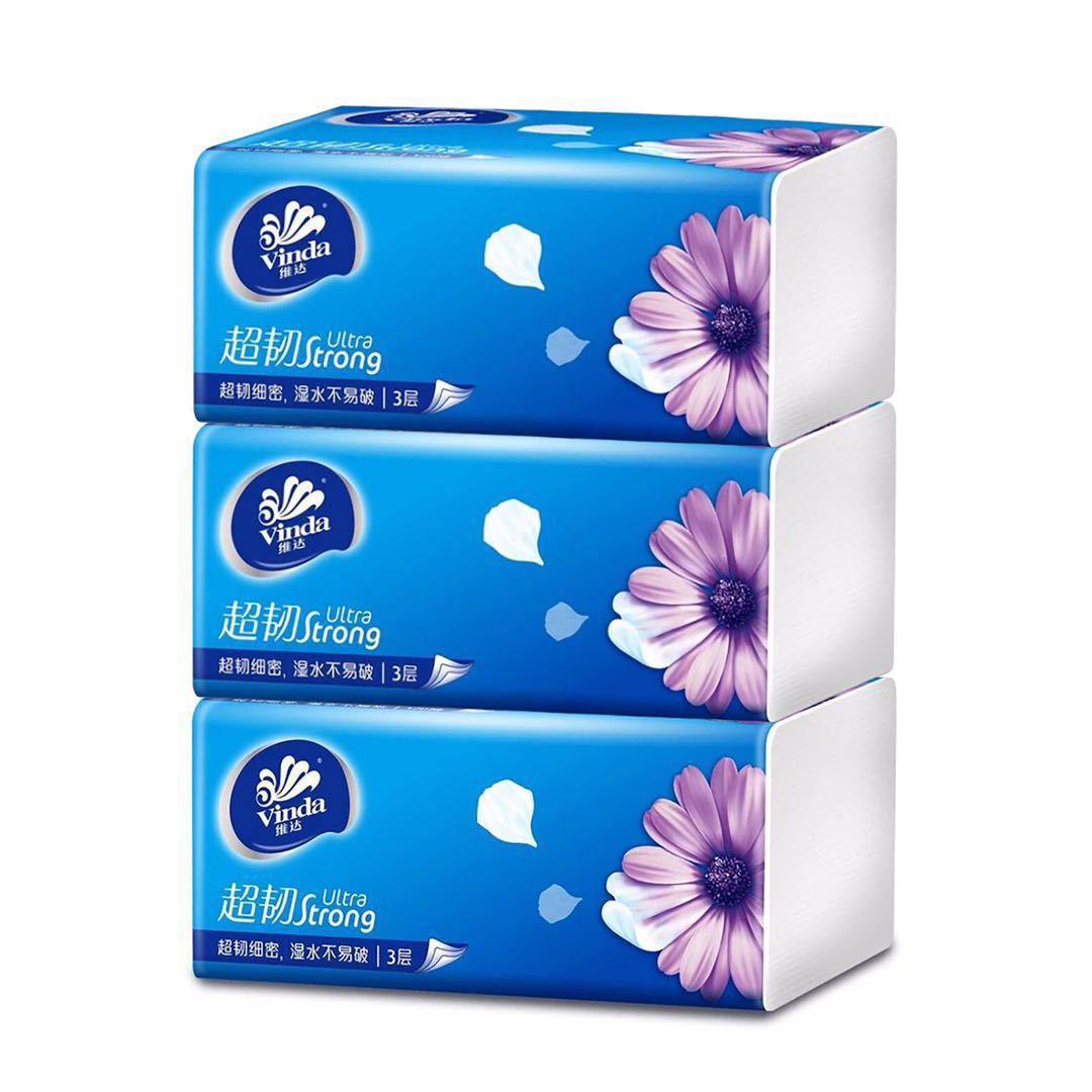 Vinda Tissue Paper Pumping Household Restaurant Paper Toilet Paper Facial Tissue Paper Bag Wet Paper