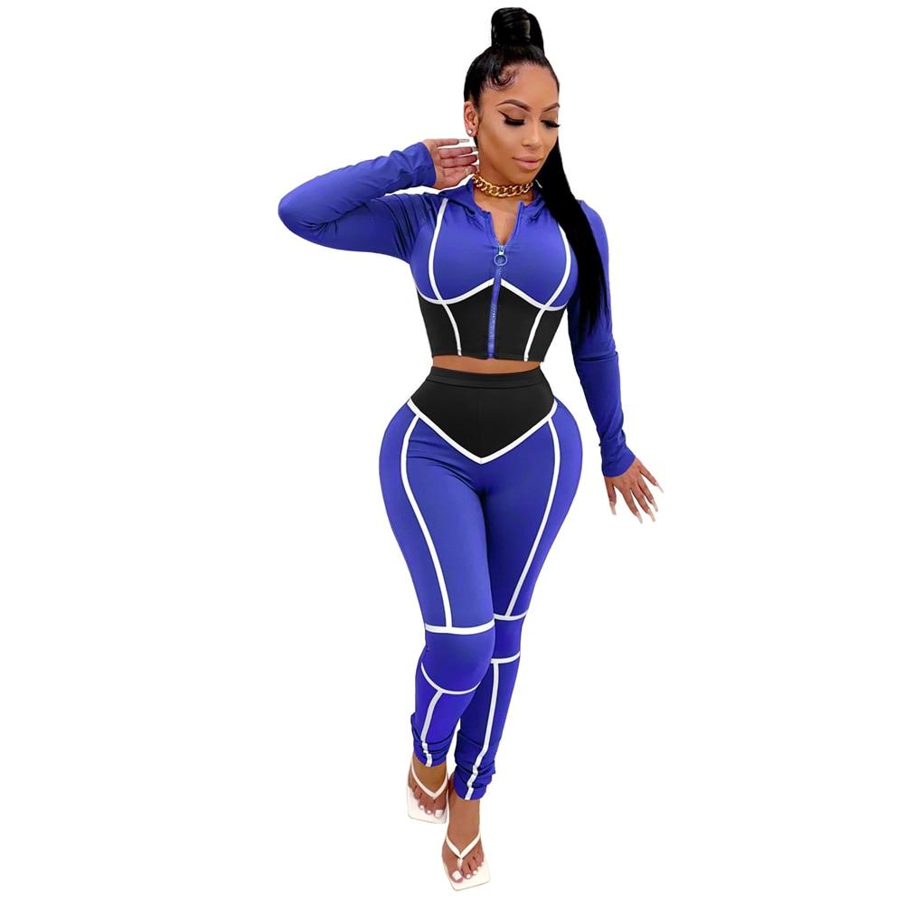 Женский спортивный костюм с длинным рукавом на молнии