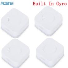 Güncelleme Aqara akıllı kablosuz anahtarı anahtar Gyro dahili çok fonksiyonlu akıllı fonksiyonlu çalışma ile Android IOS Mijia APP