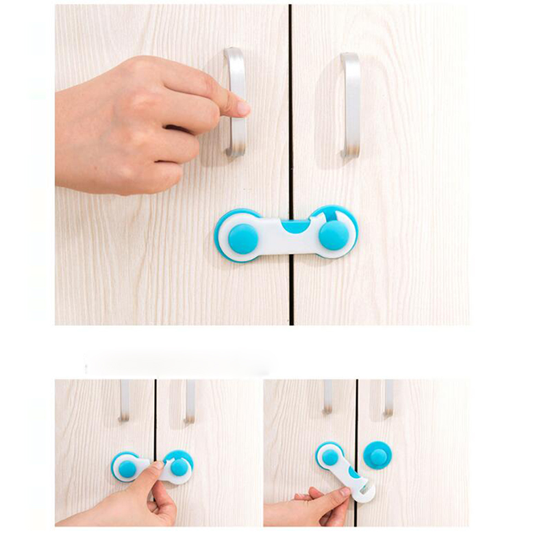 5pcs Kids Baby Safety Lock for Box Drawer Cupboard Cabinet Wardrobe Door Fridge~