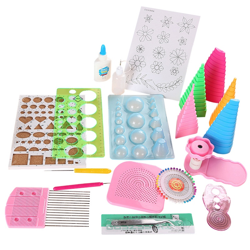 19Pcs Handmade Paper DIY Paper Quilling Kit Tool Paper Quilling Kit Accessories Quilling Tools Set Paper Crafts Decoration Tools|DIY Knitting| |  - title=