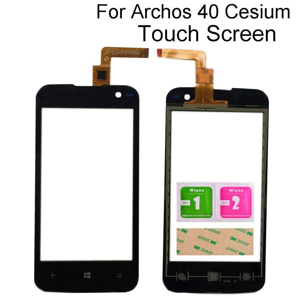 Стекло сенсорного экрана для Archos 40 Cesium, переднее стекло, сенсорная панель, инструменты для датчика объектива, 3 м, клеевые салфетки