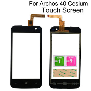 Image 1 - Touch Screen Glass For Archos 40 Cesium Touch Screen Front Glass Mobile Phone Touch Panel Lens Sensor Tools 3M Glue Wipes