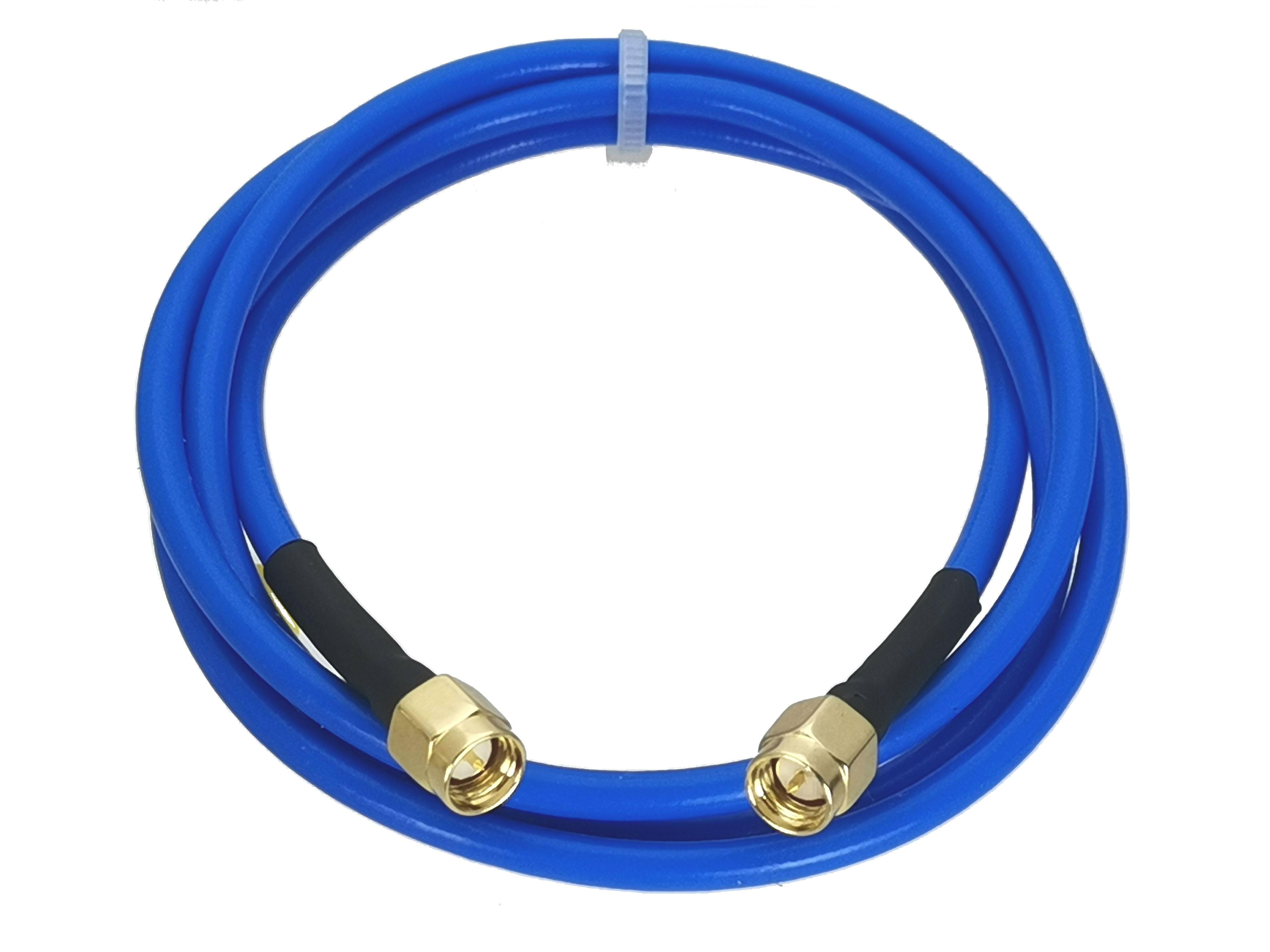 1 шт. SMA штекер к SMA штекеру RG402 0,141 дюйма синий кабель гибкий отрезок 4 дюйма ~ 20 м RF коаксиальный разъем