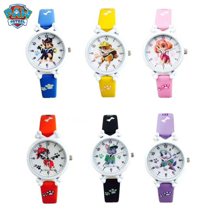 Paw Patrol Children Silicone Watch Child Quartz Wrist Fashion Cartoon For Young Children Student Watch Christmas Gift Toy