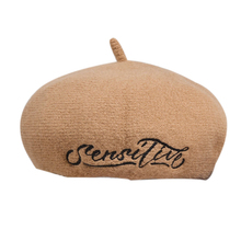 Beret Wool Solid Women Autumn Winter Embroidered Letters Winter Painter French Hat Baret