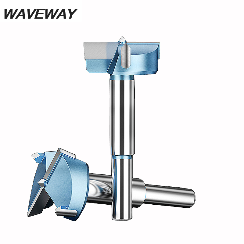 WAVEWAY 12mm-80mm Forstner Wood Drill Bit Tips Tungsten Carbide Woodworking Tools Hole Saw Cutter Hinge Boring Drill Bits