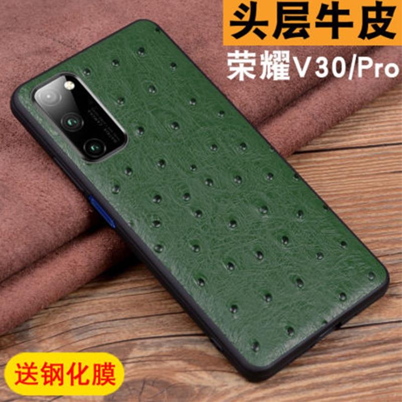 Чехол-накладка из натуральной кожи для Huawei Honor V30 Pro, Ультратонкий защитный чехол для Huawei Honor V30Pro