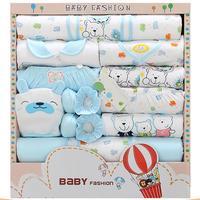 18Pcs/Set Baby Clothes Set Cotton Infant Clothes Cartoon Long Sleeve Baby Suit Gift Set Baby Supplies