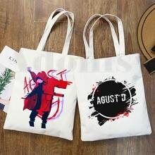 Женские хипстерские сумки для покупок agust d fanart art print