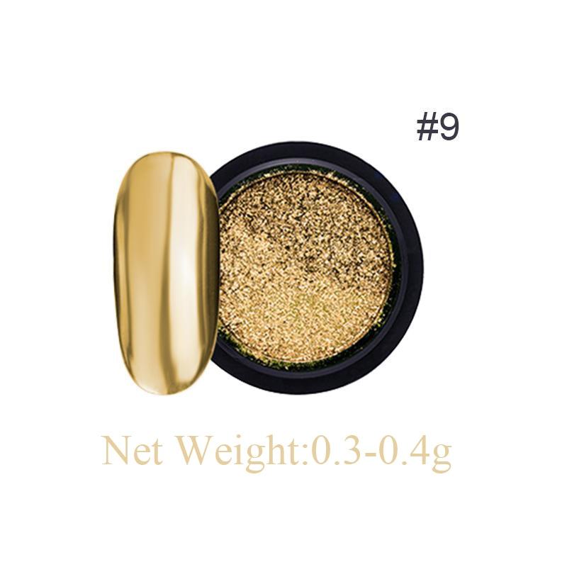 Rose Gold Bubble Mirror Powder Metallic Nail Glitter Holographics Chrome Dust Sparkling Flakes Pigment Manicur Nail Art Decor 51